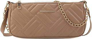 Ultramall Women Fashion Crossbody Single PU Shoulder Bags Elegant Chain Messenger Bag Embossing Leather Handbags For Women