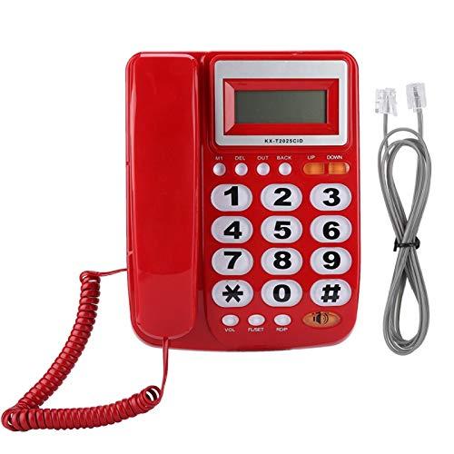 FOLOSAFENAR Teléfono Fijo con Cable Teléfono con Cable con cancelación de Ruido con contestador automático Botones Grandes Juego de extensión Duradero, para Oficina en casa(Red)