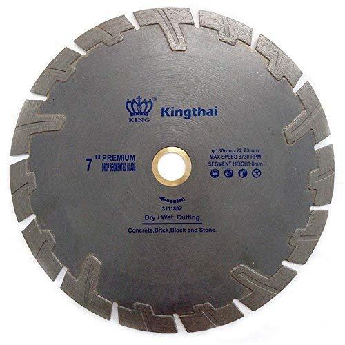 Kingthai 7 Inch T Turbo Segmented Diamond Blade for Granite Marble with Pro-Teeth Protection