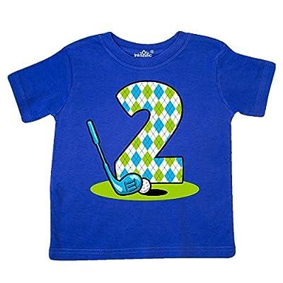 inktastic Argyle Golf 2nd Birthday Toddler T-Shirt 2T Royal Blue 24879