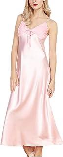 f58fb324bc WSPLYSPJY Women s Satin Chemises Lace Trim Sleepwear Sexy Nightdress