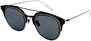 Homme Composit 1.0 006 Black Composit Round Sunglasses Lens Category 3 Siz