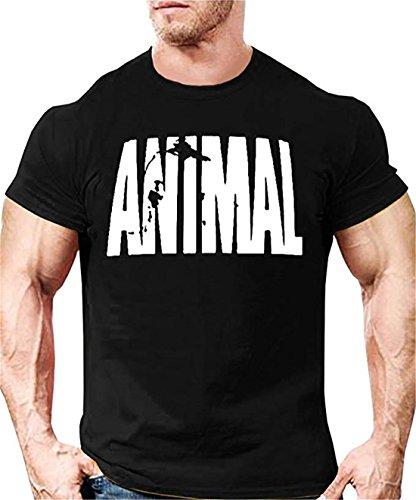 YeeHoo Animal Carta T-Shirt Hombre Camiseta Básica Deportiva De Manga Corta Fitness Gimnasio S-2XL