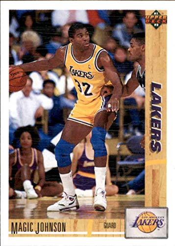 Basketball NBA 1991-92 Upper Deck #45 Magic Johnson #45 NM Lakers