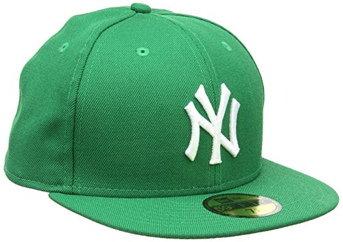 New Era Mlb Basic New York Yankees - Chapeau pour Homme, Vert blanc, 56.8 cm