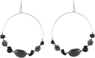 Flying Jewellery Silver Plated Hoop Earrings, French Closure