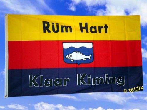 Fahnen Flaggen Sylt RÜM HART 150 x 90 cm