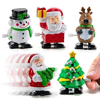Prextex Christmas Wind up Stocking Stuffers- Santas and Snowmen Wind up Stocking Stuffers