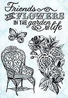 花の背景DIYスクラップブッキングフォトアルバム用クリアシリコンスタンプシール装飾クリアスタンプM1409