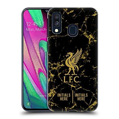 Head Case Designs Personalisierte Individuelle Liverpool Football Club Marmor Schwarz 2018/19 Harte Rueckseiten Huelle kompatibel mit Samsung Galaxy A40 (2019)
