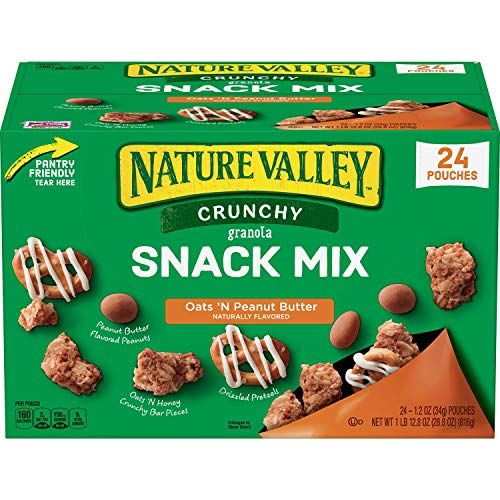 Nature Valley Nature Valley Crunch Granola Snack Mix Oats 'N Peanut Butter 24 X 1.2 Ounce  Net wt 28.8 Ounce , 28.8 Ounce