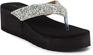 Butterflies Steps Latest Collection, Comfortable Wedges Sandal for Women's & Girl's(Silver)(GHS-0083SLV)