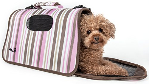 PET LIFE 'Sporty-Caged' Airline Approved Folding Collapsible Fashion...