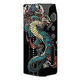 Skin Decal Vinyl Wrap for Pioneer 4 you iPV D2 75W Vape Mod / Dragon Japanese Style Tattoo