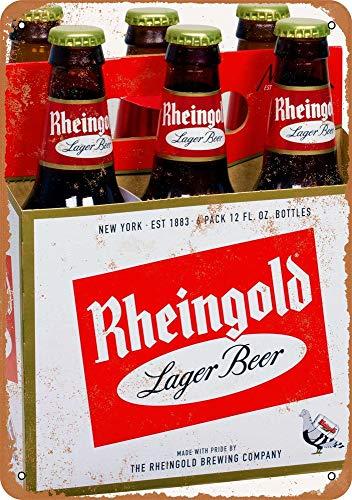 Yohoba Metallschilder Rheingold Bier Vintage Look 20,3 x 30,5 cm