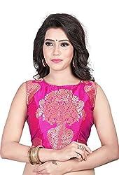 78ca02d96526f7 Kuvarba Fashion Color Pink Fabric Jacquard Readymade Designer Fancy Blouse