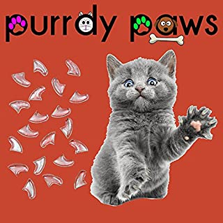 Purrdy Paws Soft Nail Caps for Cat Claws Clear