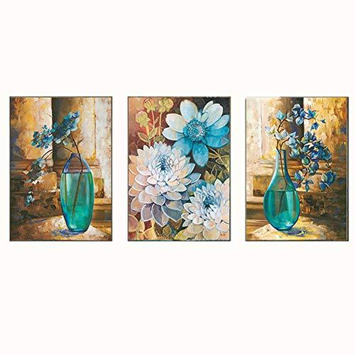 Proumhang kruissteek borduurpakket borduurpatroon 120 cm * 56 cm drievoudige beschildering van de rijke vaas