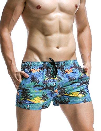 SEOBEAN Herren Badehose Badeshorts Board Shorts Strand Shorts (M(31-33