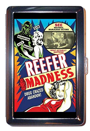 Reefer Madness Marijuana Stainless Steel ID or Cigarettes Case (King Size or 100mm)