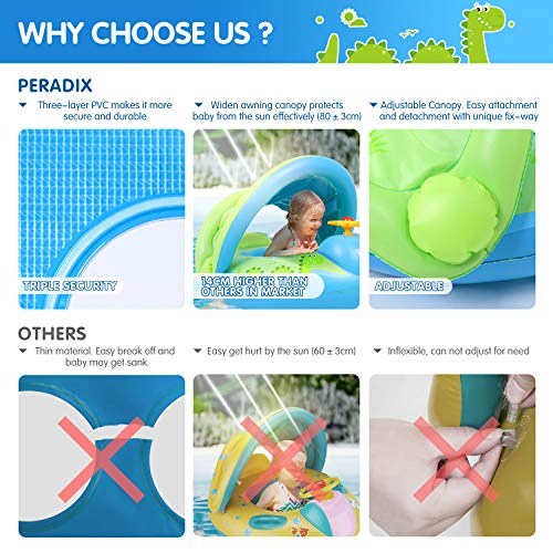 Peradix Bouee Bebe Bouée Siège Gonflable Piscine Enfant Bébés 6 - 36...