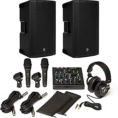 "Mackie Performer Bundle with Mixer and Microphones + Thump12A 1300W 12"" Powered Speaker - Pair by Mackie"