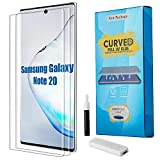 Galaxy Note 20 Ultra Screen Protector, Yunerz Tempered Glass 3D Curved EDG Coverage, Anti-Scratch, Fingerprint Unlock Screen Protector for Samsung Galaxy Note 20 Ultra 6.9inch (2 Packs)