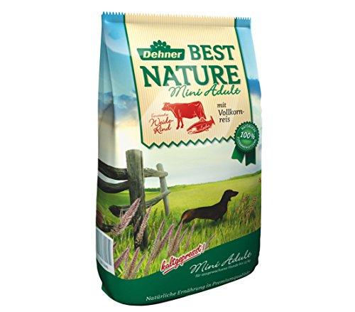 Dehner Best Nature Hundetrockenfutter Mini Adult, Rind und Lachs, 5 kg
