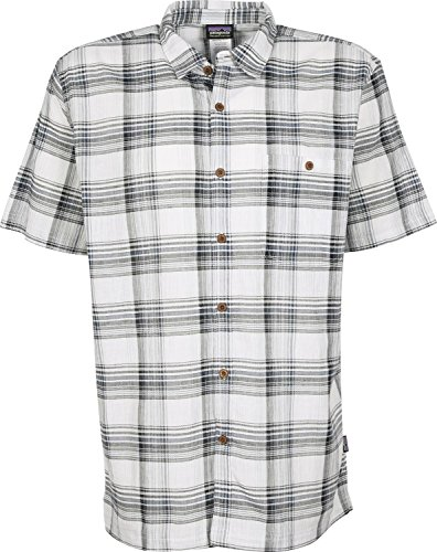 Patagonia M's S/S A/C Chemise pour Homme Bleu Taille S
