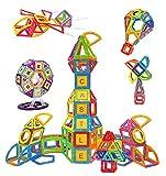 Condis 160 Piezas Bloques de Construcción Magnéticos para Niños Kit de inicio, Juegos de Viaje Construcciones Magneticas Imanes Regalos Cumpleaños Juguetes Educativos para Niños mayores de 3 años