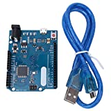 Entwicklungsboard WiFi, Entwicklungsboard Motherboards ATmega32u4 5V 16 MHz mit USB-Kabel Netzwerkgeräte für Arduino Leonardo R3 Pro