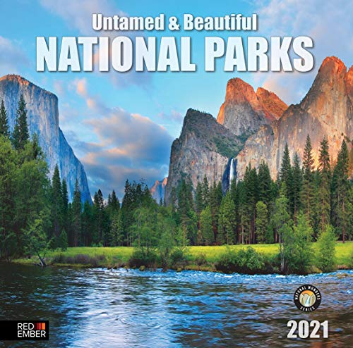 Untamed & Beautiful National Parks - 2021 Hangable Wall Calendars by Red Ember Press - 12' x 24' When Open - Thick & Sturdy Glossy Paper - Wander Through Nature's Beauty