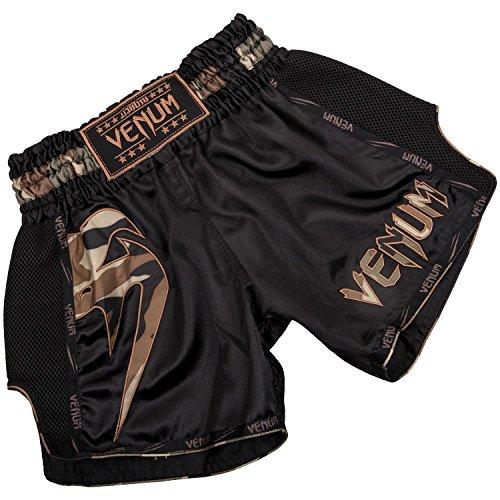 Venum Herren Giant Thaibox Shorts, Schwarz/Walt Tarnen, XXL