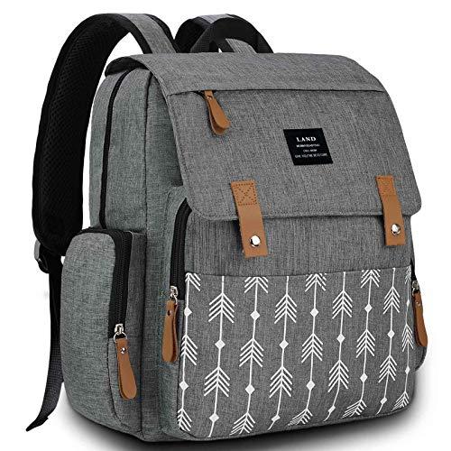 Diaper Bag Backpack, VAKKER Maternity Multifunction Diaper Bags for Baby Girl-Boy, Waterproof and Large Capacity Diaper Backpack Baby Diaper Bag Gray,Blue,White
