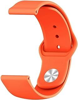 سوار معصم رياضي من السيليكون، غير لامع، سوار ساعة سوار إكسسوار، مقاس (20 مم)، لساعة هواوي GT2 42 ملم / Samsung 42 ملم، Act...