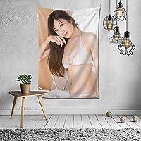 熊田曜子 インテリア タペストリー グッズ 壁掛 壁飾り リビングルーム ベッドルーム 部屋 おしゃれ飾り 60x40inch/150x100cm