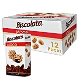 Biscolata Mood Cookies with Chocolate Filling Snacks - Crispy Cookie Shell Filled with Milk Chocolate (Milk, 12 Boxes)