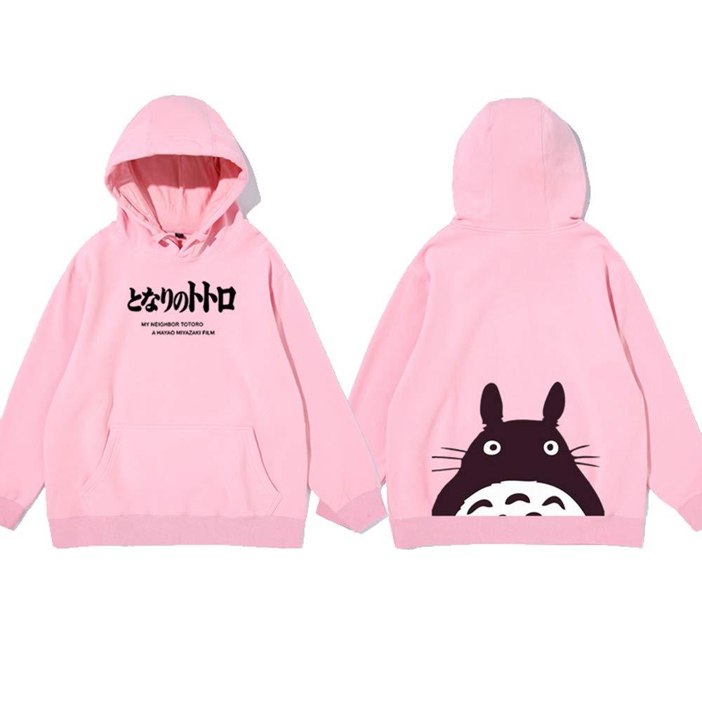 HBBDYZ Unisex con Capucha Totoro más la Camisa Sudadera de Terciopelo Mi Vecino, con Bolsillo Canguro, Totoro la Camiseta, Fans del Anime,Rosado,XXL: Amazon.es: Deportes y aire libre