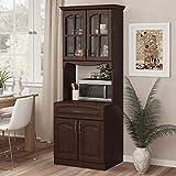 Living Skog Kitchen Storage Cabinet–Kitchen Cabinet with Storage Shelves and Microwave Stand–Pantry Cabinet-Kitchen China Cabinet–Kitchen and Pantry Hutch Cabinet (Espresso)