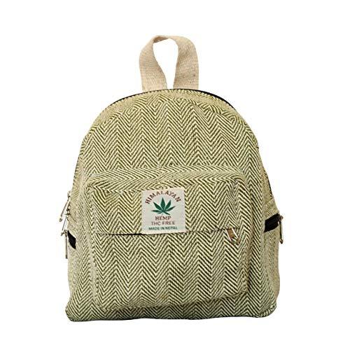 Generic Umweltfreundlicher Mini-Rucksack Für Mädchen Handgefertigter Hanf-Rucksack Für Frauen Bio Schöner Kleiner Rucksack Für Mädchen (Grün)