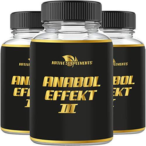 Anabol Effect 3 - Muskelaufbau - Extrem Anabolika - stärkster Testosteron Booster - Pre Workout, Verbesserte Formel - Hochdosiert & Stark - Original Muskel Pump & Testo Komplex - Einführungspreis