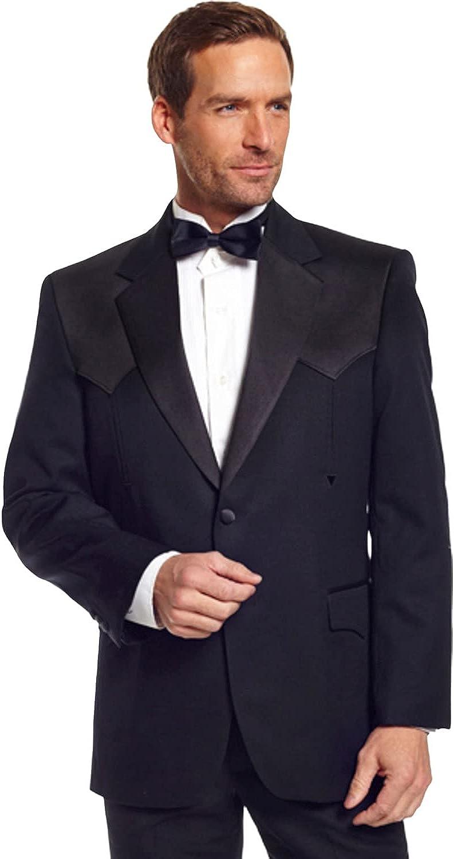 Circle S Men's Long Tuxedo Coat Reg, Tall Black 48 R