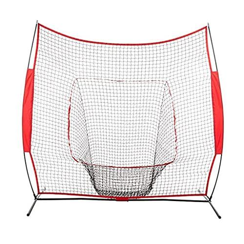LOFAMI 7  × 7  Baseball Softball Practice Net W Strike Zone Colpire Batting Catching Pitching Training Net for Pitching Batting Catching per Tutti i Livelli di abilità
