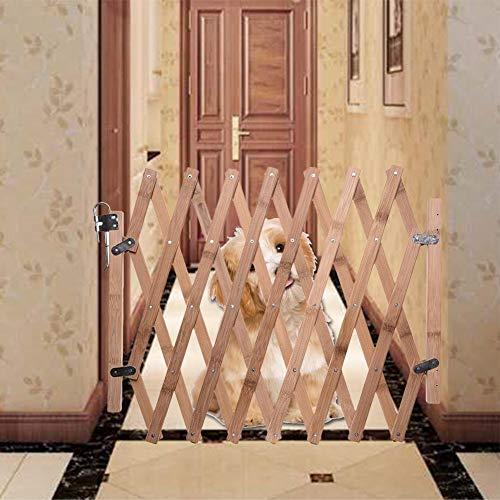 Juman634 Puerta Extensible para Mascotas Cerca de Mascotas Cerca de Madera Puerta...