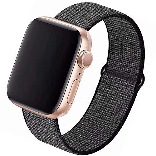 CosyZanx für Apple Watch Armband 38mm 40mm 42mm 44mm,Gewobenes Nylon Sport Schlaufe Handgelenk Uhrband Ersatz Armreif Uhrenarmband für iWatch Apple Watch Series 4 3 2 1 (42/44MM, Blackplatium)