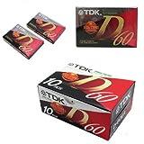 TDK D60 - Cinta virgen, caja de 10 unidades