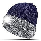 HIGHEVER Männer Geschenke Mütze mit LED Licht - Geschenke für Papa LED Mütze USB Aufladbar -...
