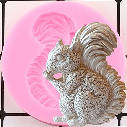 ZIYING Kuchenform Eichhörnchen-Eichel-Eichel-Silikon-Formen Tiere Fondant Kuchen Dekorieren Werkzeuge DIY Handwerk Seife Harz Schokolade Gumpaste Süßigkeiten Clay Formen