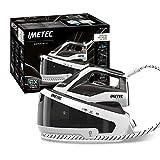 Imetec ZeroCalc PRO PS2 2200 - Centro de planchado de vapor, tecnología antical, hasta 5,6 bares, golpe de vapor 240 g, suela de acero inoxidable, 3 filtros antical incluidos