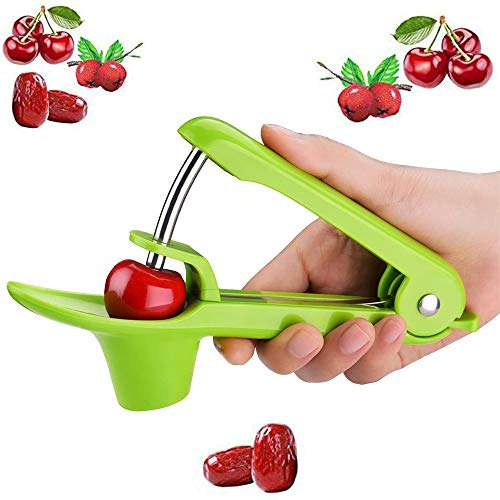 Cherry Pitter Tool Olive Pitter Utensil Tool, Portable Cherry Pitter Kitchen Aid with Space-Saving Lock Design, Halloween